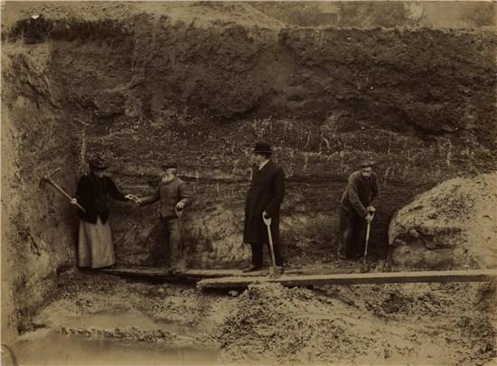 1930s photograph of excavations by Nina Laynard