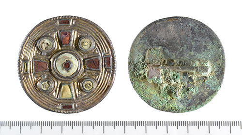 front and back of the keystone brooch