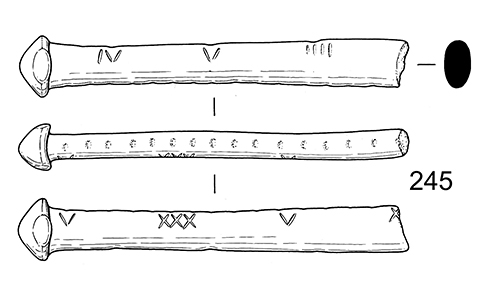 drawing of three steelyard scales