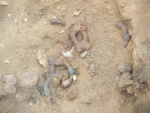 burial assemblage in in-situ