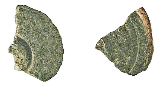 fragment of Iron Age terret ring mould