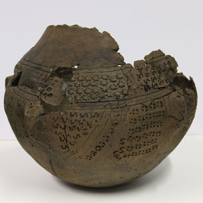 reconstructed Anglo-Saxon cremation urn