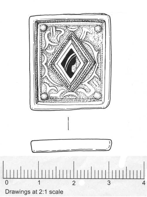 drawing of jewelled mount