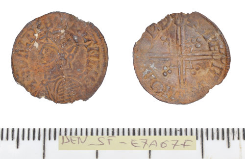 front and back of a silver penny of Aethelred II