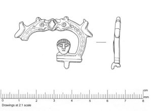 drawing of top and side of buckle