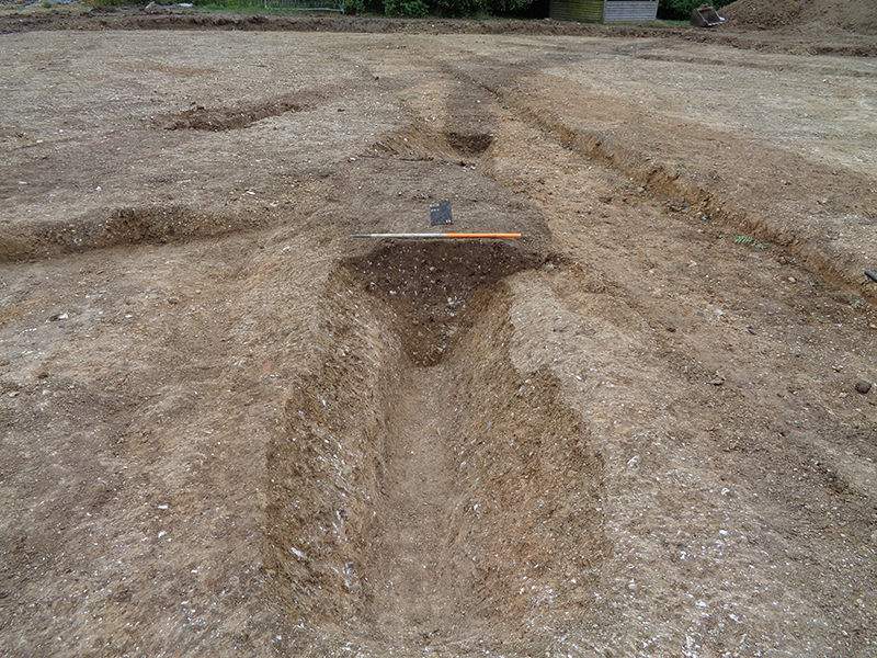 view of excavated section of a ditch