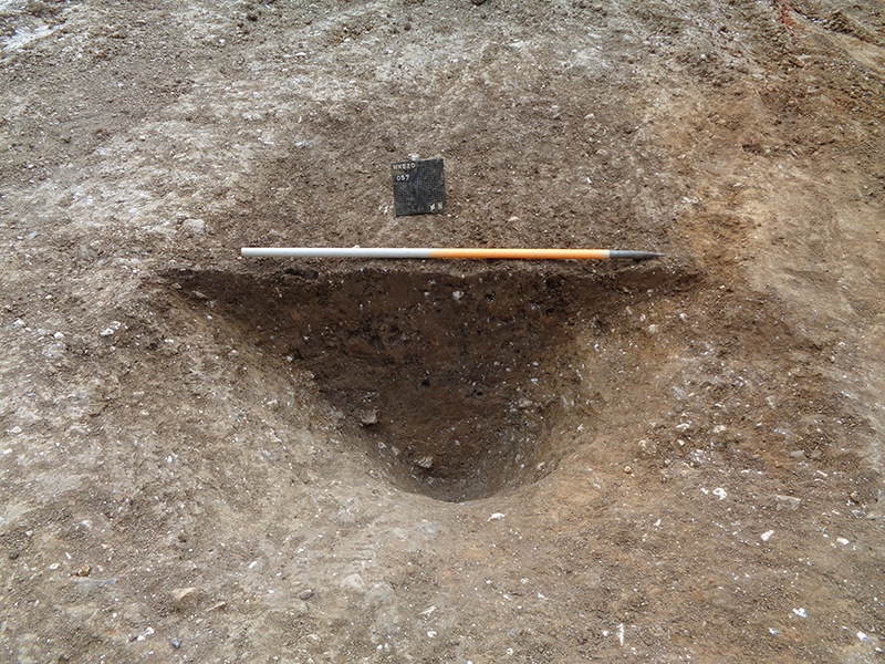 view of an excavated pit