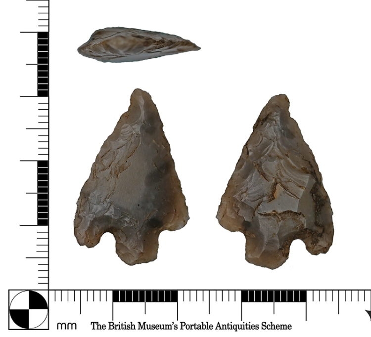 A pair of Early Bronze Age arrowheads