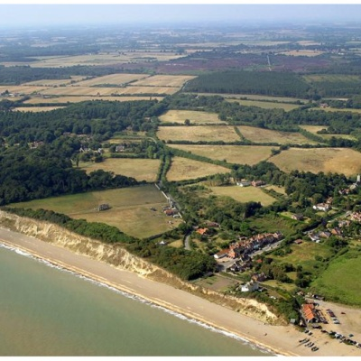 Photograph of Dunwich and coast