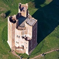 Aerial View of Orford Castle